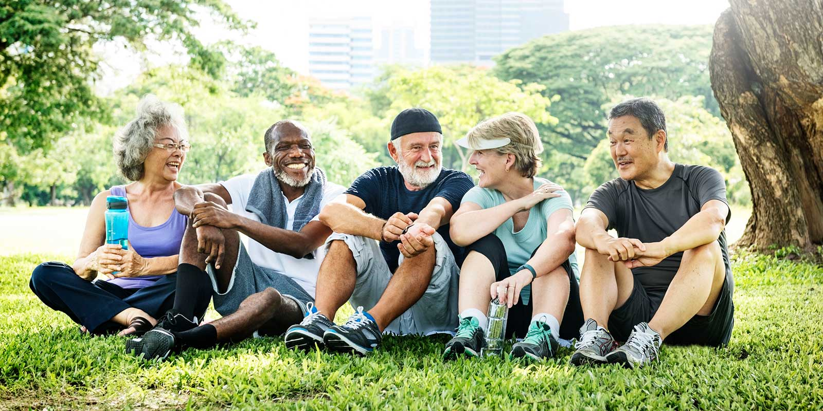Senior Citizens Outdoors after Exercise